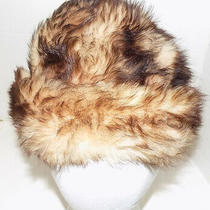 Vintage Brown and Tan Italian Lamb Fur Hat Made in Italy Photo