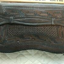 Vintage Brown Embossed Leather Clutch Purse From J L Hudson Photo
