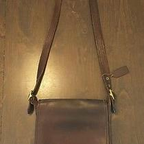 Vintage Brown Leather Coach Crossbody Messanger With Hangtag Brown Photo