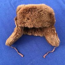 Vintage Brown Rabbit Fur Russian Winter Ushanka (Bomber Hat) Preowned Mint Photo