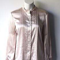Vintage Burberry Blush Pink Silk Blouse M Photo