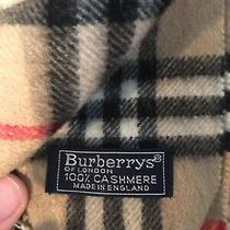 Vintage Burberry Cashmere Scarf Photo