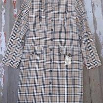 Vintage Burberry Fittted Dress in Classic Nova Check Signature Plaid 4 6 Photo