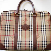 Vintage Burberry  Laptop Document Portfolio Briefcase Bag Photo