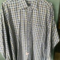 Vintage Burberry London Mens Size Large Plaid Shirt  Photo