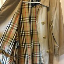Vintage Burberry Women's Khaki Long Midi Lined Over-Coat  Size 38-40. Large Photo
