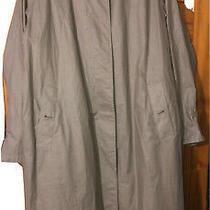 Vintage Burberrys Beige Trench Coat Womens Overcoat Size-16 Regular Photo
