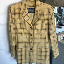 Vintage Burberrys of London Ladies Yellow Plaid Jacket Sz 10  Photo