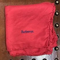 Vintage Burberrys Red Silk Scarf Square 18x18 Photo