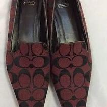 Vintage Burgundy and Black Flats by Coach (6.5) Photo
