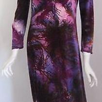 Vintage Cacharel 1960s Modernist Print Velvet Maxi Dress Photo