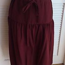 Vintage Cacharel 70s Wine Color Midi Skirt Photo