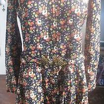 Vintage Cacharel Floral Mini Dress Mod 1970's Retro  Photo