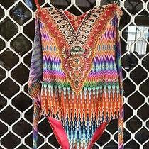 Vintage Camilla Franks Lovers Loom Swimsuit One Piece Size 8 Small 4 Express Photo