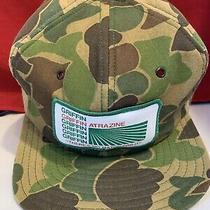 Vintage Camouflage Griffin Atrazine Trucker Hat Snapback N.c. Garment Co. Usa Photo