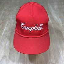 Vintage Campbell's Soup Buyer Adjustable Snapback Rope Hat Photo