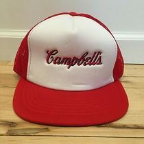 Vintage Campbell's Soup Snapback Trucker Hat Dead-Stock Photo