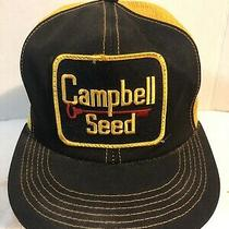 Vintage Campbell Trucker Hat Snapback Cap Patch K Brand Product Usa Farm Photo