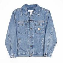 Vintage Carhartt  Blue Grunge Cotton Casual Denim Jacket Mens M Photo