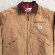 Vintage Carhartt Insulated Zip Up Jacket Tan Brown Medium Large Usa  Photo