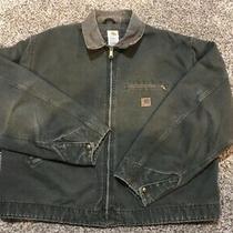 Vintage Carhartt Jacket J97 Wool Interior Made in Usa Dark Green Jacket Sz Xxl Photo