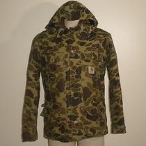 Vintage Carhartt Quilt Lined Camo Hooded Hunting No Game Bag Duck Jacket Coat L Photo