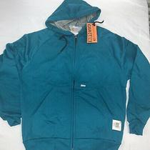 Vintage Carhartt Rugged Outdoor Wear Sweatshirt Hoodie New Nwt M Usa Teal Blue Photo