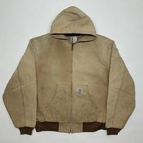 Vintage Carhartt Tan Zip Jacket With Hood Photo