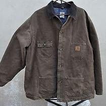Vintage Carhartt Wool Blanket Lined Barn Coat Field Jacket Chore  3xl Tall Photo