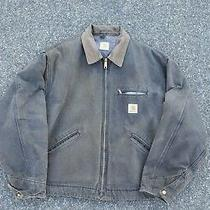 Vintage Carhartt Work Detroit Jacket Xl Brown Faded Distressed  Photo