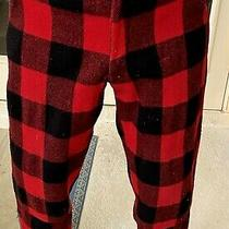 Vintage Carter's Woolen Buffalo Plaid Hunting Pants- Red & Black. Size 32 X 30. Photo