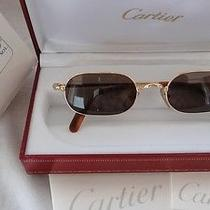 Vintage Cartier Deimios 50/21 Dandy Sunglasses  France 18k Heavy Plated Photo