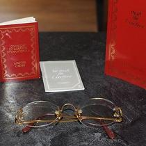 Vintage Cartier Gold Rimless Glasses Photo