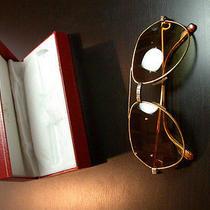 Vintage Cartier  Gold Sunglasses Photo