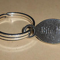 Vintage Cartier Tag Style Sterling Silver Key Ring-Monogramed