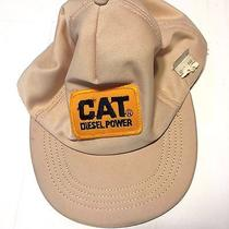 Vintage Cat Diesel Power Hat Snapback 1970s With Patch Original Tags  Photo