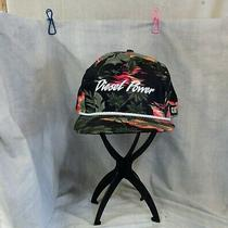 Vintage Cat Diesel Power Hawaiian Floral Snapback Rope Hat San Sun Cap Photo