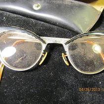 Vintage Cat Eye Fancy Glasses Rhinestone Retro 12k Gf Photo