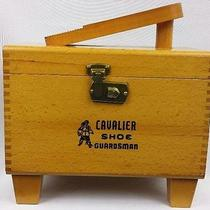 Vintage Cavalier Guardsman Wood Shoe Shine Box Photo
