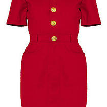Vintage Celine Red Dress With Gold Hardware Photo