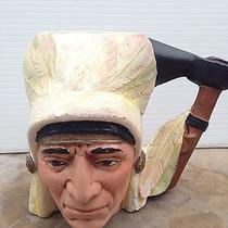 Vintage Ceramic Native American/indian One of a Kind Signed Muggreat Condition Photo