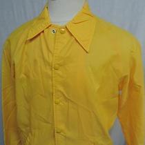 Vintage Champion Windbreaker Jacket Coach Yellow Medium Running Man Label M Photo