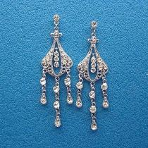 Vintage Chandelier Earrings Bridal Swarovski Earrings E2226 Photo