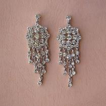Vintage Chandelier Earrings Clear Swarovski Crystal Bridal Earrings E2162 Photo