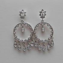 Vintage Chandelier Earrings Clear Swarovski Crystal E2014 Photo