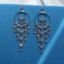 Vintage Chandelier Earrings Clear Swarovski Crystal E2150 Photo