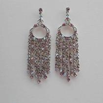 Vintage Chandelier Earrings Lt Amethyst Swarovski Crystal E2125 Photo