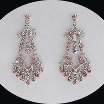 Vintage Chandelier Earrings Lt Amethyst Swarovski Crystal E2268 Photo