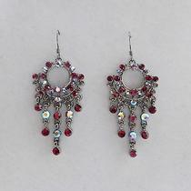 Vintage Chandelier Earrings Siam Swarovski Crystal Wedding Earring  E2252 Photo
