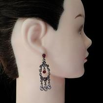 Vintage Chandelier Earrings Siam Swarovski Crystal Wedding Earring  E2245a Photo
